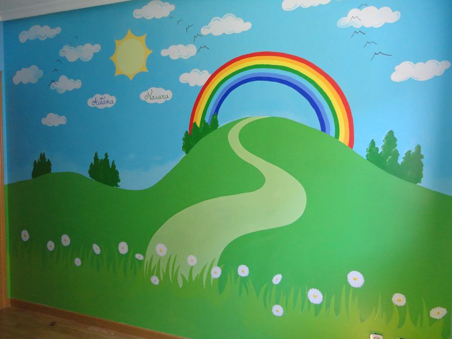 Murales conejitos ositos y ratoncitos para bebes - Murales infantiles pared ...