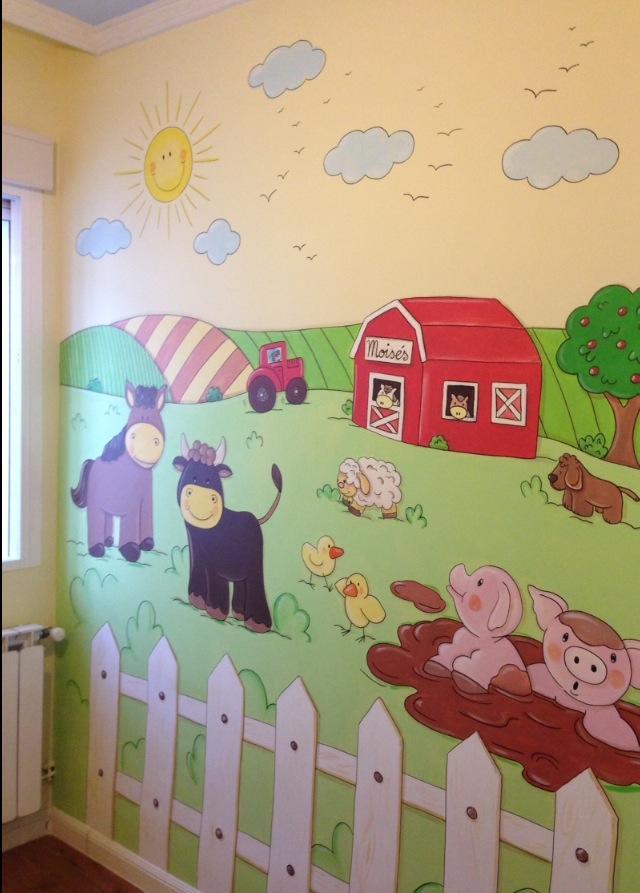 Murales conejitos ositos y ratoncitos para bebes - Murales para ninas ...