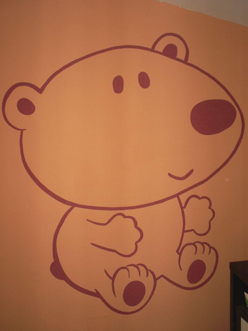 Murales infantiles murales pintados a mano sobre paredes for Dormitorio para dibujar facil