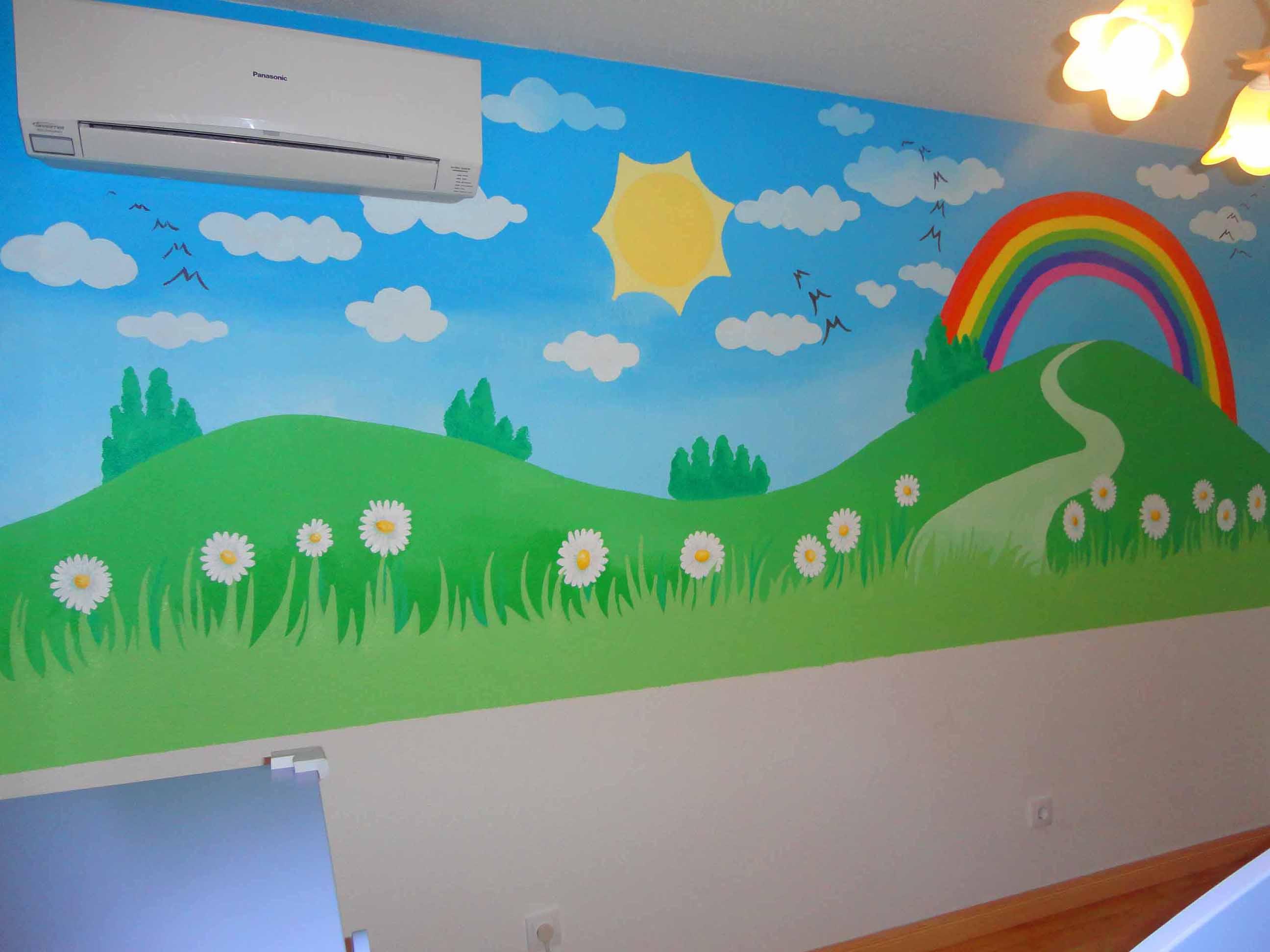 Mural Pared Infantil Best Pintar Murales Infantiles V With Mural