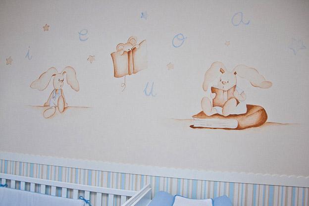 Murales conejitos ositos y ratoncitos para bebes for Murales y vinilos infantiles
