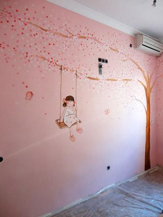 Murales infantiles, murales pintados a mano sobre paredes, murales ...