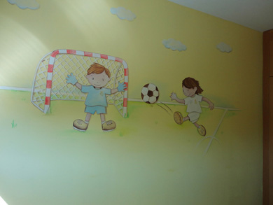 Murales infantiles murales para nios pintura tattoo - Murales para habitacion ...