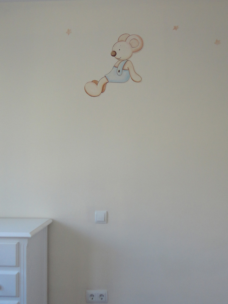 Murales conejitos ositos y ratoncitos para bebes - Pintar murales infantiles ...