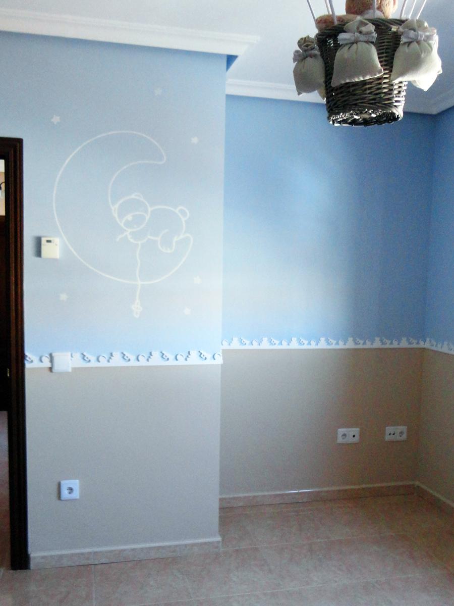 Murales infantiles murales pintados a mano sobre paredes - Color de pintura para habitacion ...