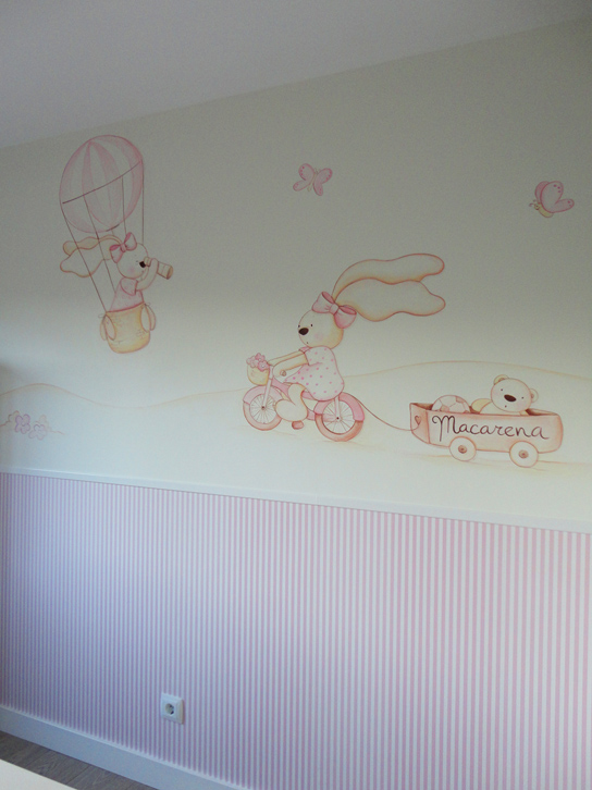 Murales infantiles murales pintados a mano sobre paredes - Ideas pintar habitacion infantil ...