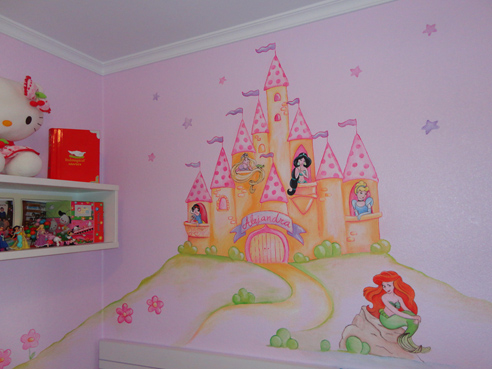 Murales infantiles murales pintados a mano sobre paredes murales para bebes murales en - Vinilos infantiles disney para paredes ...
