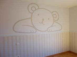 Murales infantiles murales pintados a mano sobre paredes murales para bebes murales en - Papel pintado habitacion bebe ...