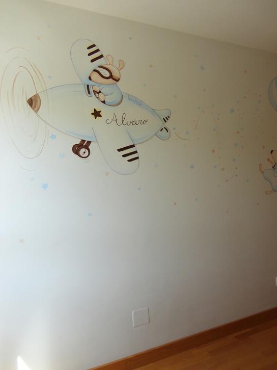 Murales conejitos ositos y ratoncitos para bebes - Papel pintado para gotele ...