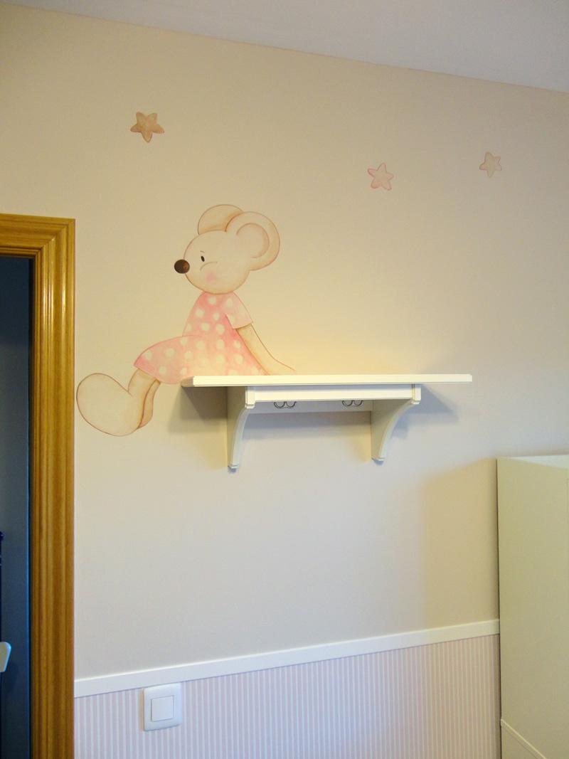 Murales infantiles murales pintados a mano sobre paredes for Habitacion dibujo