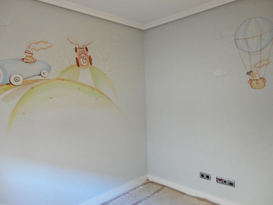 Murales infantiles murales pintados en paredes murales - Dibujos habitacion bebe ...