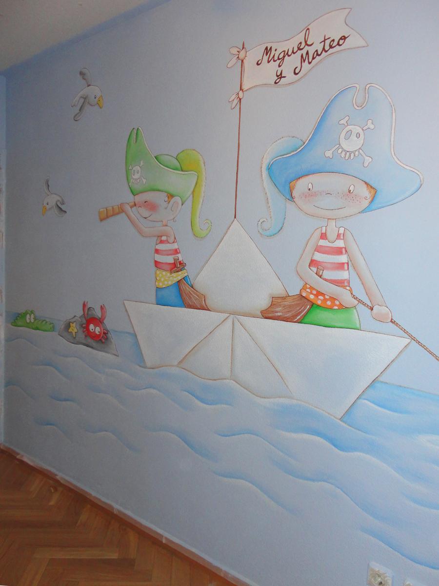 Murales infantiles murales pintados a mano sobre paredes - Ver habitaciones infantiles ...