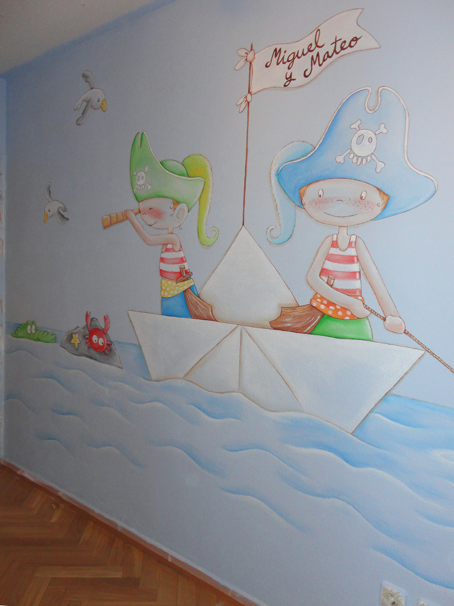 Murales infantiles murales pintados a mano sobre paredes - Murales pintados a mano ...