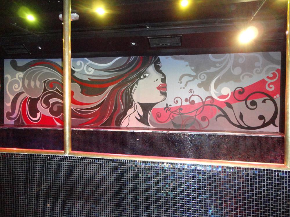 Pintura mural decorativa murales pintados a mano alzada for Como decorar un mural