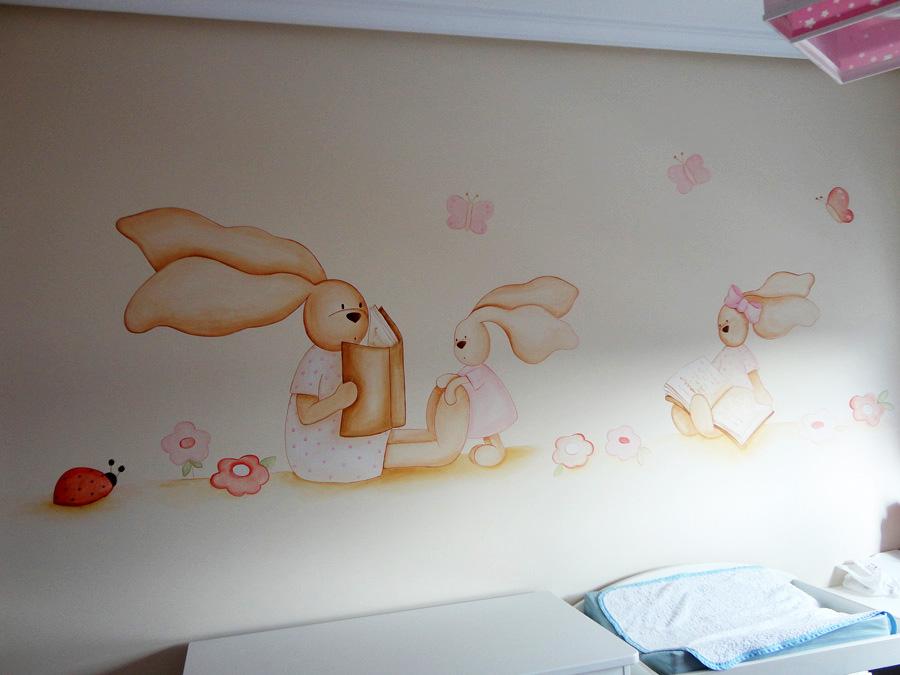Phrases Murales Of Murales Infantiles Pintados Mano Sobre Paredes Quotes