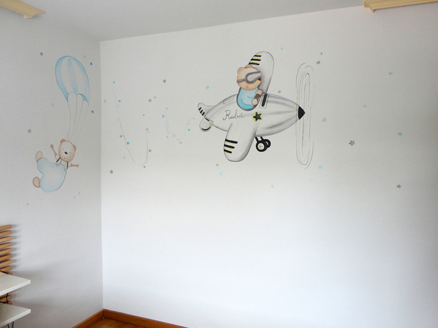 Murales Infantiles Murales Pintados A Mano Sobre Paredes Murales Para Bebes Murales En Dormitorios