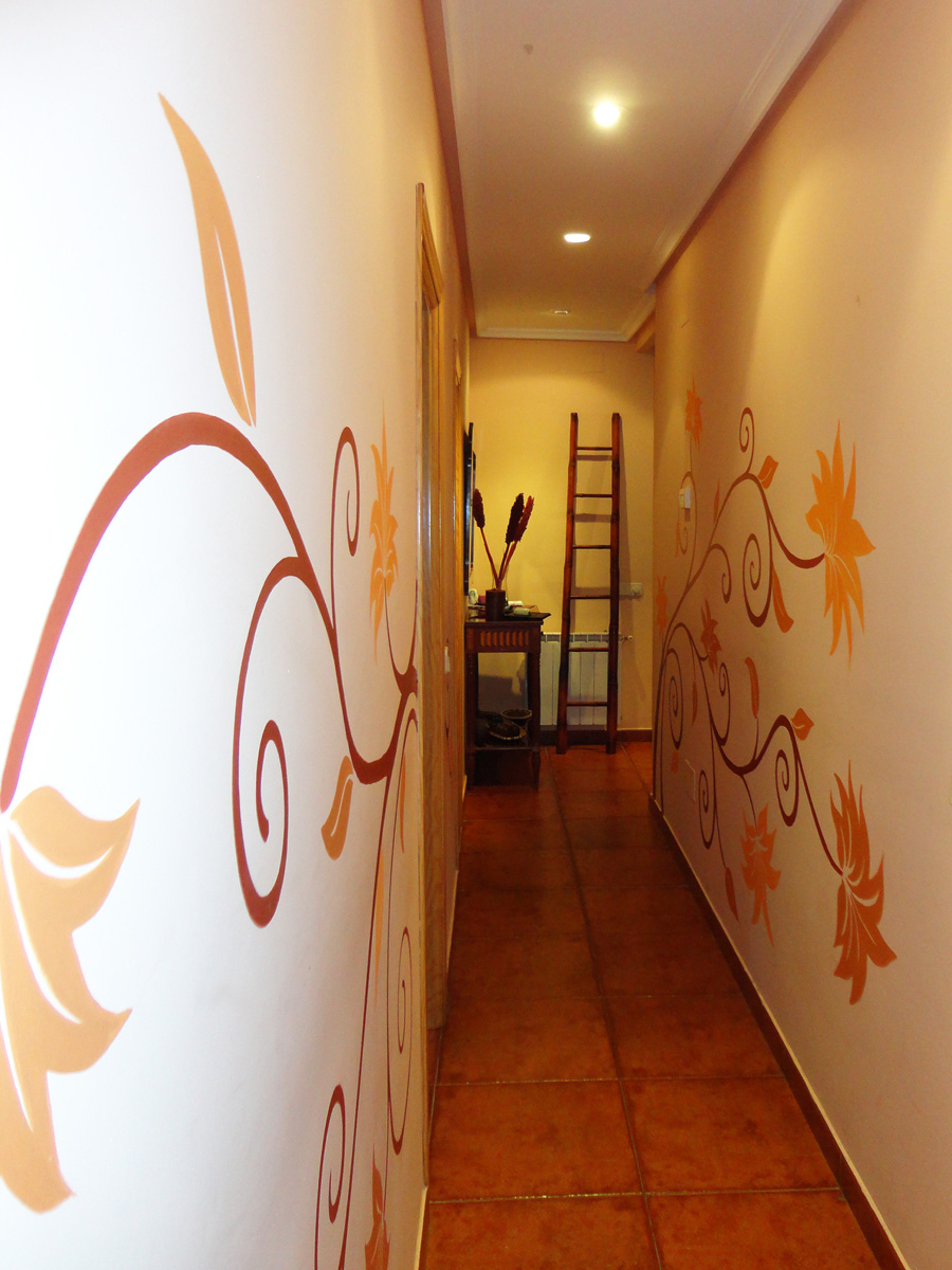 Pintura mural decorativa murales pintados a mano alzada - Paredes pintadas con dibujos ...