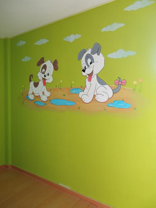 Design habitaciones bebe gotele la mejor galer a de - Murales infantiles pintados a mano ...