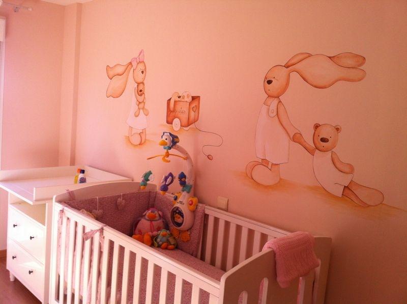 Murales conejitos ositos y ratoncitos para bebes - Murales para habitacion ...