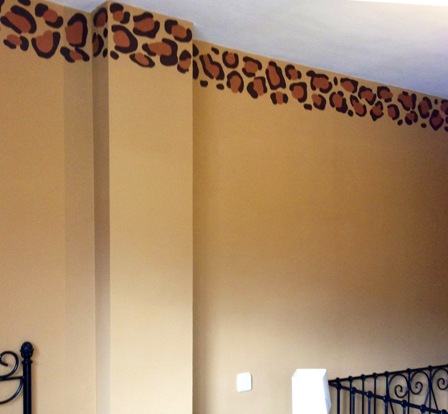 Pintura mural decorativa murales pintados a mano alzada for Mural decorativo pared
