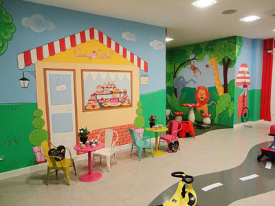 decoracion de paredes infantiles con grafitis