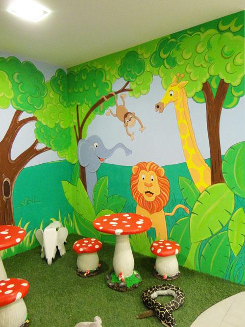 Murales infantiles murales pintados a mano sobre paredes - Decoracion pared ninos ...