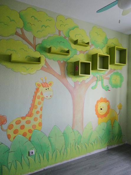 Murales conejitos ositos y ratoncitos para bebes for Murales decorativos para bebes