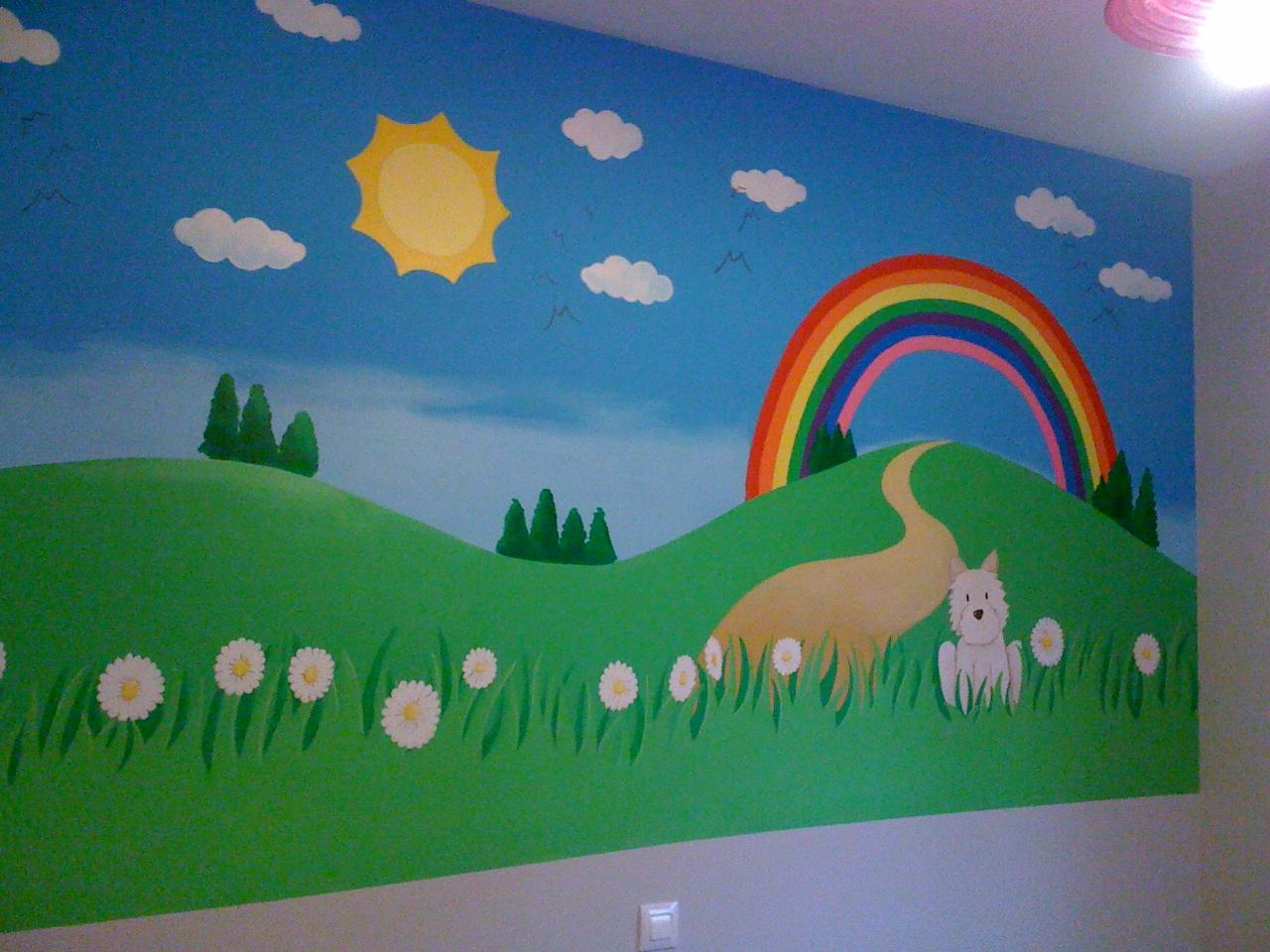 Murales para infantiles rase una vez creada en es una for Murales y vinilos infantiles