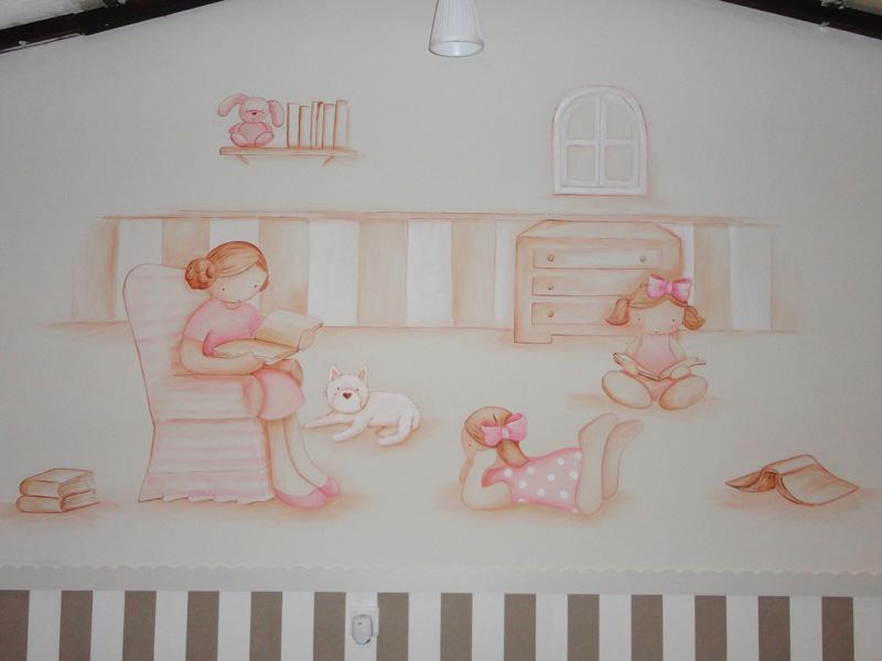 Murales infantiles murales pintados a mano sobre paredes - Mural para habitacion ...