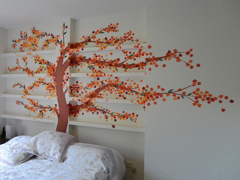 Pintura mural decorativa murales pintados a mano alzada for Un mural facil de hacer