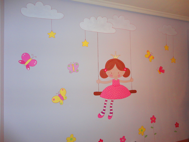 Murales infantiles murales pintados en paredes murales - Paredes de habitaciones infantiles ...