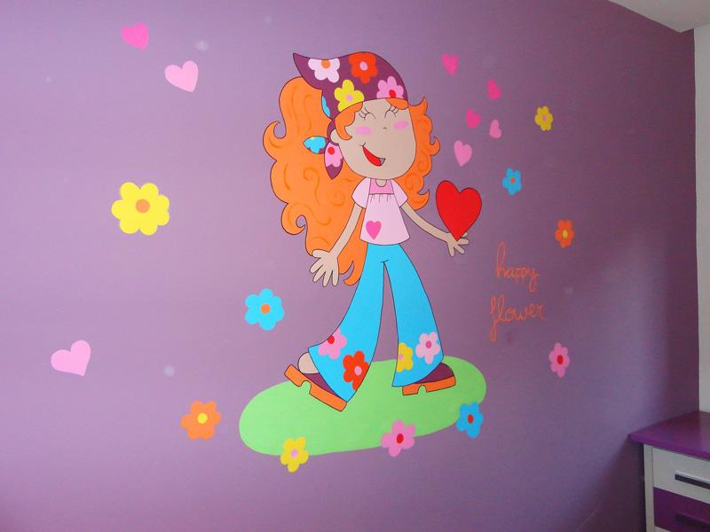 Murales infantiles murales pintados en paredes murales for Mural para pared dormitorio