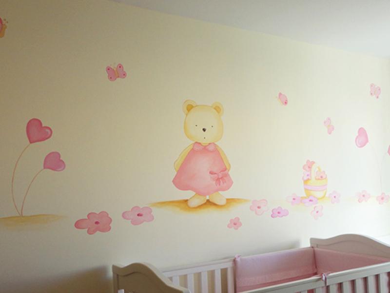 Murales infantiles murales pintados a mano sobre paredes for Phrases murales