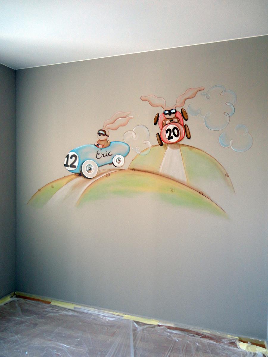 Murales infantiles murales pintados a mano sobre paredes - Percheros infantiles de pared ...