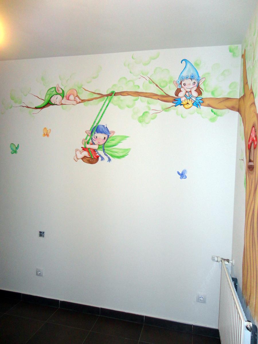 Murales infantiles murales pintados en paredes murales - Cuadros para habitaciones infantiles ...
