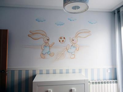 Murales infantiles murales pintados a mano sobre paredes murales para bebes murales en - Como pintar un dormitorio infantil ...