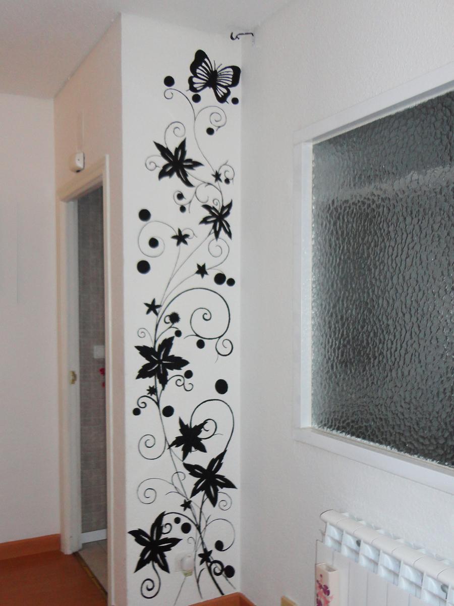 Dibujos en la pared para decorar beautiful uso de - Dibujos para pintar paredes ...