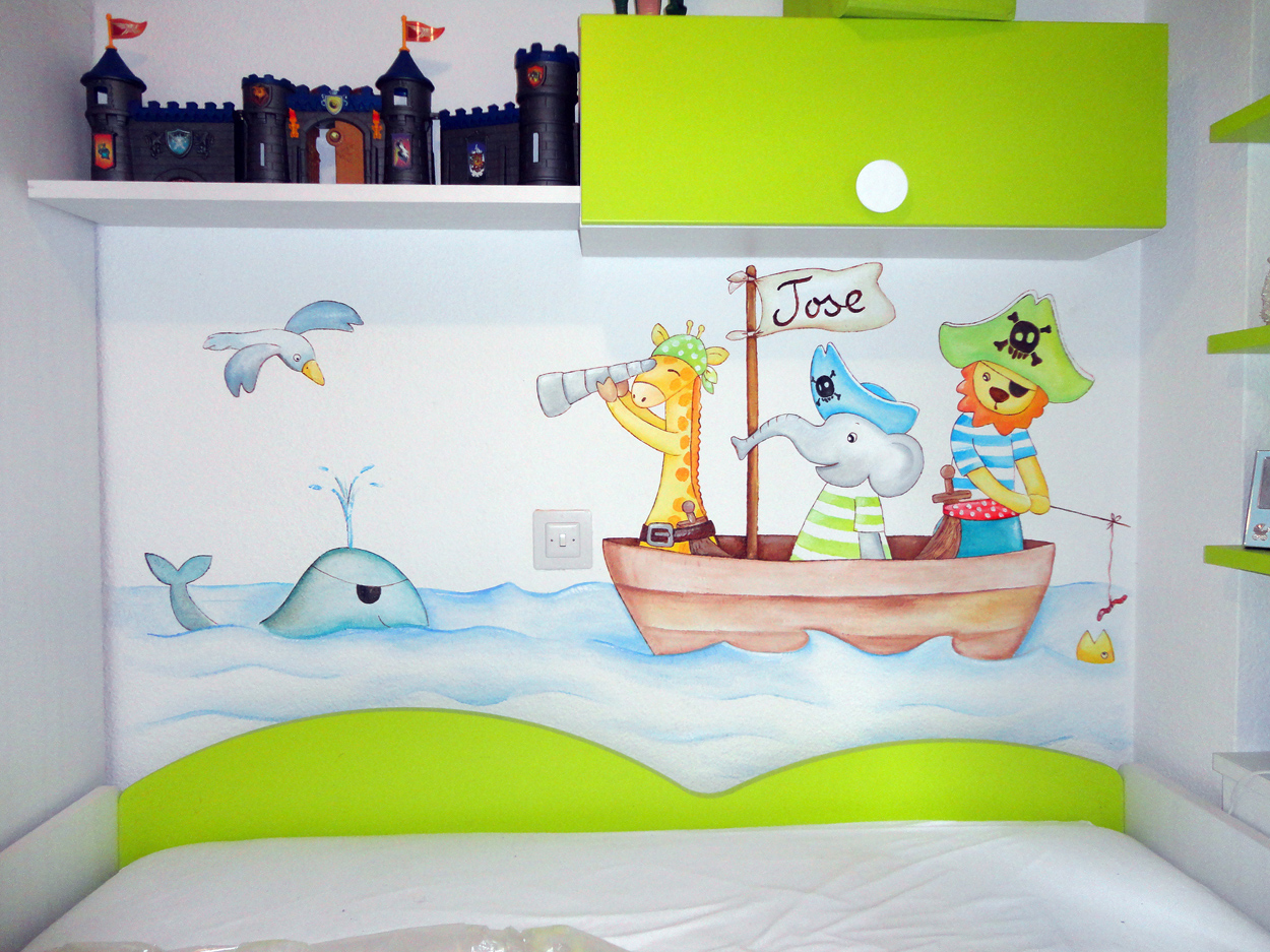 Decorar paredes infantiles beautiful ideas originales - Pintar paredes infantiles ...
