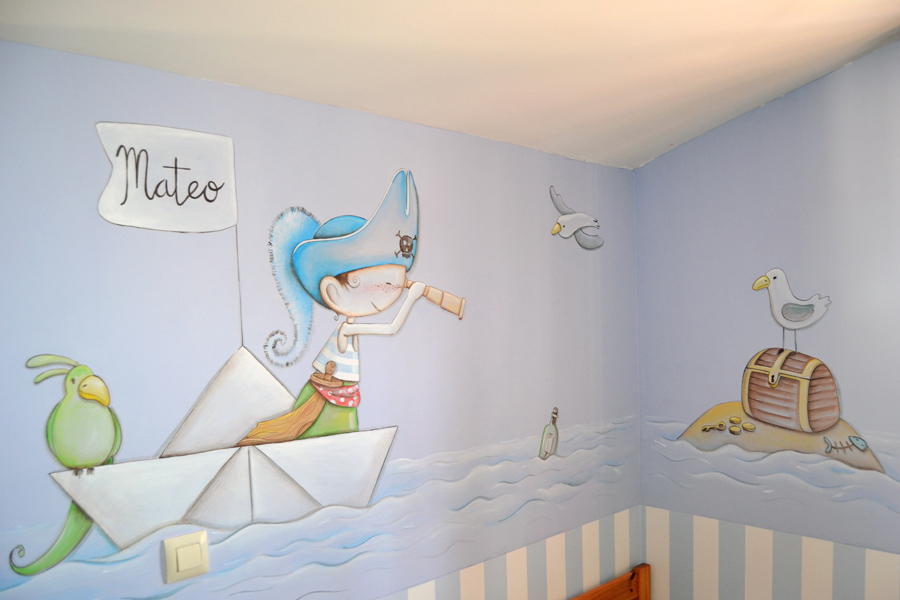 Dibujos infantiles para decorar paredes good la with - Decorar pared infantil ...