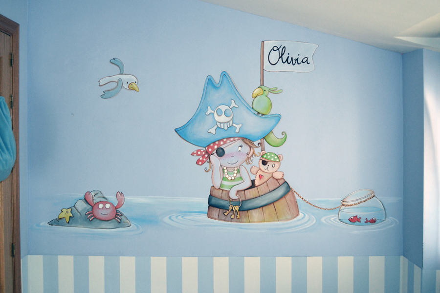 Murales infantiles murales pintados a mano sobre paredes for Laminas gigantes para pared