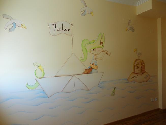 Murales infantiles murales pintados en paredes murales for Murales decorativos para bebes