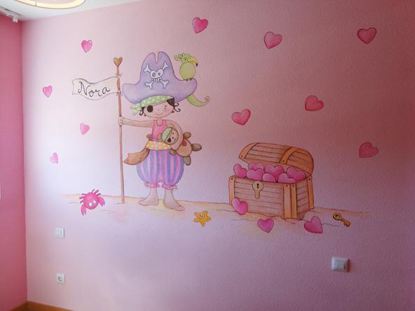Murales infantiles murales pintados en paredes murales for Vinilos para habitaciones de ninos
