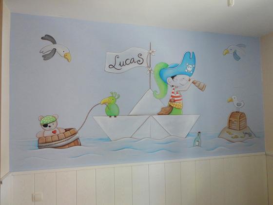 Murales infantiles murales pintados en paredes murales - Cuadros murales para pared ...