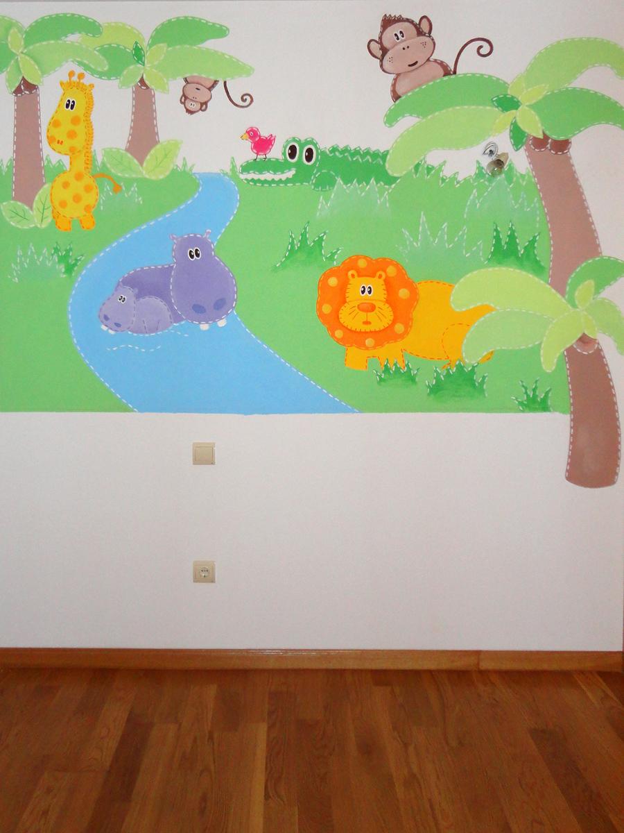 Murales infantiles murales pintados en paredes murales - Decoracion de paredes de habitaciones ...