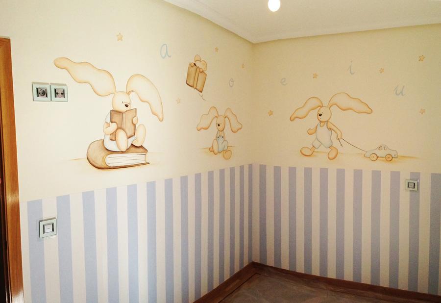 decorar las habitaciones con dibujos en las paredes