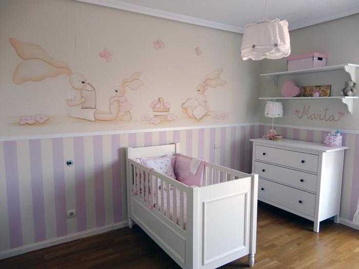 Murales infantiles murales pintados a mano sobre paredes murales para bebes murales en - Pintar dormitorio infantil ...