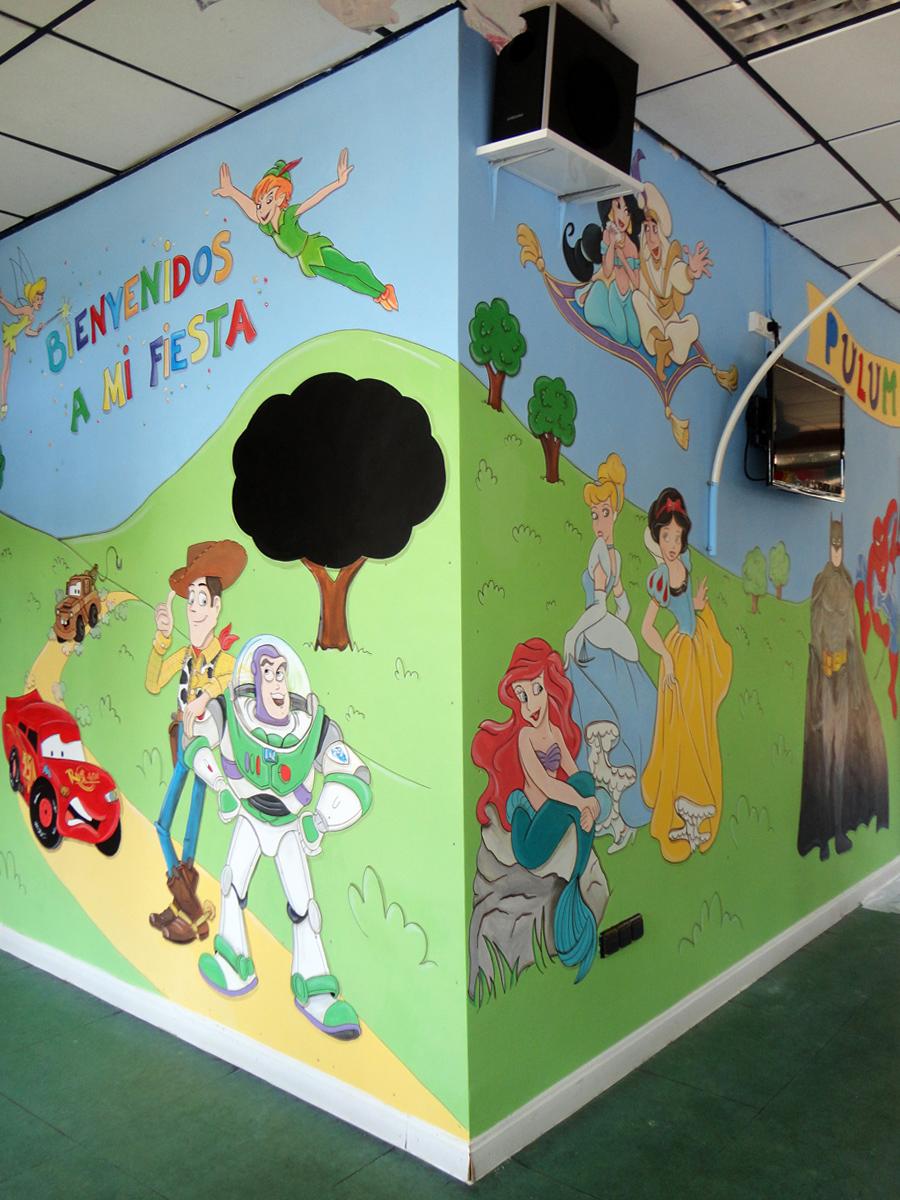 Murales infantiles murales pintados a mano sobre paredes - Pintar murales infantiles ...