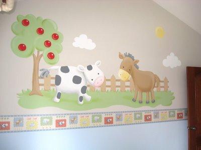 Murales Habitacion Bebe Of Decoraci N De Paredes Pintura Mural Decorativa