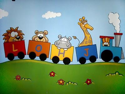 Decoraci n de paredes pintura mural decorativa - Pintura infantil pared ...