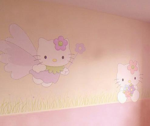 Decoraci n de paredes pintura mural decorativa - Habitaciones pintadas infantiles ...